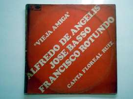 Disco LP Vinilo Tango EMI ODEON De Angelis Basso Rotundo 33 RPM 1967