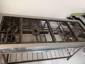 estufa industrial y lavaplatos