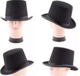 Sombrero De Copa O De Mago En Poliester Disfraz Para Adulto y Niño