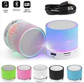 Parlante Bluetooth craquelado  luces