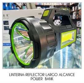LINTERNA-REFLECTOR LARGO ALCANCE POWER BANK
