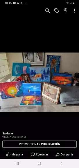 Vendo variedad de cuadros óleo
