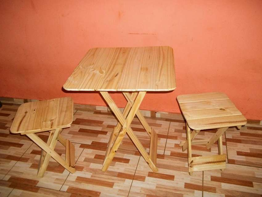Fabrico Mesas Plegables de Pino Materas 0