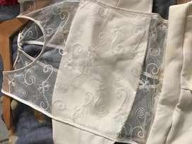 Enterito mono corto blanco de vestir