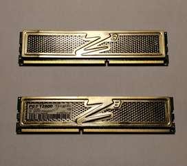 Memoria OCZ Gold Series 2 x 2GB DDR3 1600MHz