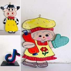 Muñecos y Decoraciones a mano en Madera Country