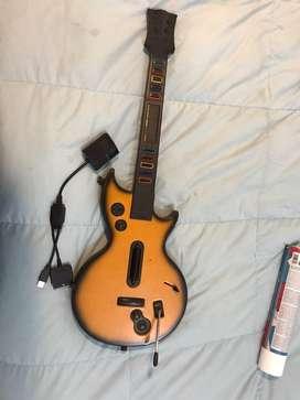 Guitarra guitar hero! Para ps3 y ps2 como nueva poco uso
