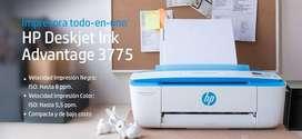 Impresora Hp 3775 Con Sistema De Tinta Continua Instalado