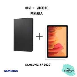 Combo de case más vidrio de pantalla Samsung A7 2020