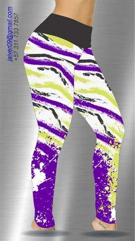 diseño y hago artes para leggins deportivos dama se envian x e-mail