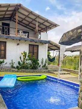 Casa Finca de Verano en El Queremal, a 5 min del parque, 15 personas