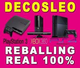 Reballing 100 REAL Luz ROJA Xbox 360 SLIM STINGRAY Luces Rojas E74 E64