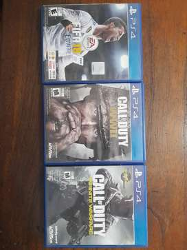 Se vende juegos de PS4 Negociable