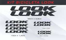 set de calcomanias para bicicleta look