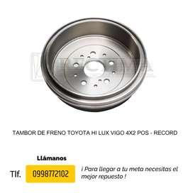 TAMBOR DE FRENO TOYOTA HI LUX VIGO 4X2/4X4, YARIS NITRO