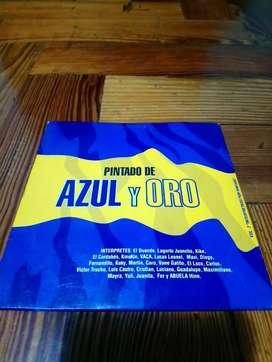 Cd Inedito De Boca Juniors*pintado De Azul Y Oro*buen Estado