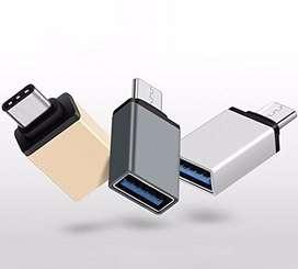 ADAPTADOR OTG PARA CELULARES CONEXION USB TIPO C