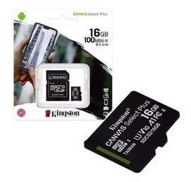 Memoria micro SD 16GB Kingston clase 10