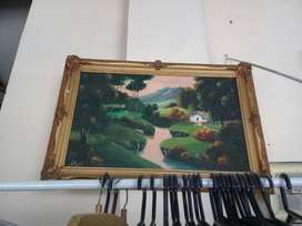 Pintura con Marco Antiguo