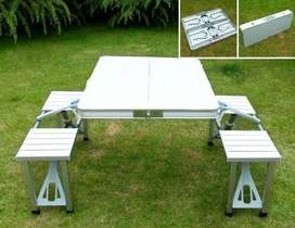 Mesa Plegable Sillas Aluminio Portatil para Camping mesa paseo