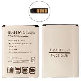 Bateria LG G2 G3 Beat Mini 2610MAh BL54SG D802 D801 F320 F320L F320S F260 F300