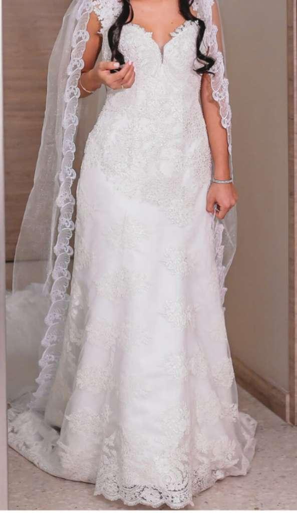 Vendo hermoso vestido de novia,diseño único