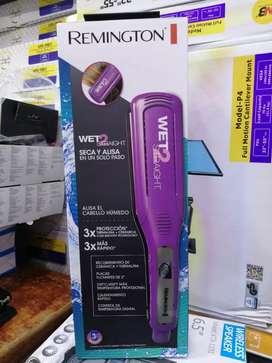 Plancha de cabello remington wet 2 plancha sobre cabello humedo y seco