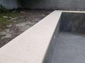 Construcción piscinas de material 7 x 3,5 $470.000