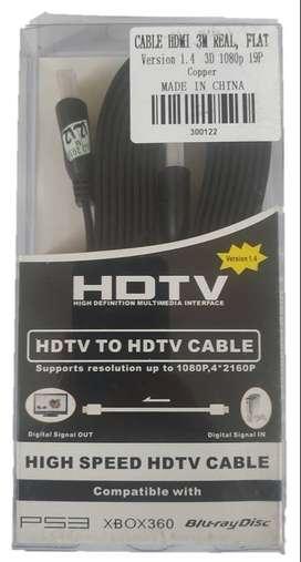 Cable Plano Hdmi 3m
