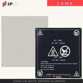 Cama caliente de aluminio 220 x 220 para impresora 3D