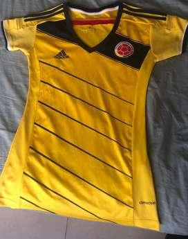 Camiseta Futbol Seleccion de Colombia. Dama. Talle M.