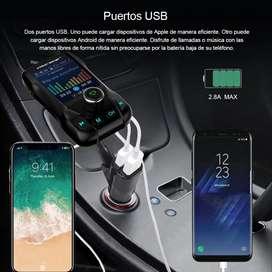 ONEVERTransmisor Fm, Kit de coche Bluetooth inalámbrico de Bluetooth Mp3