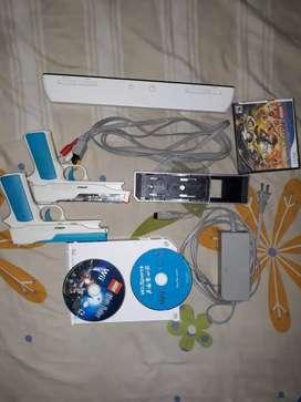 Wii con accesorios originales sin ninguna falla juegos y dos mandos