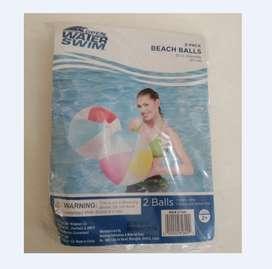 Balon Para Piscina O Playa - Americano - 2 Unid Por Paquete