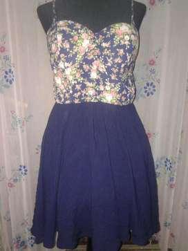 Vestido de Fibrana Talle M
