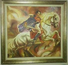 Cuadro Bolivar en caballo