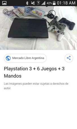 Play 3 con 2 mandos y 6 juegos