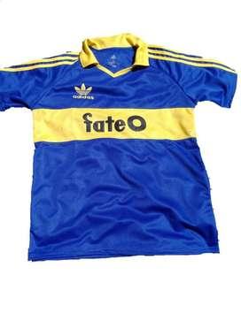 Camiseta Boca Retro Titular Fate