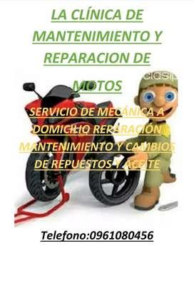 Servico de mantenimiento y reparación de motos a domicilio