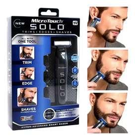Maquina de afeitar caballeros MicroTouch Solo todo 3 en 1