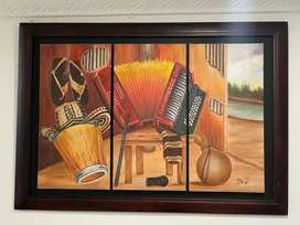 Se vende hermoso cuadro de frutas y cuadro de acordeon