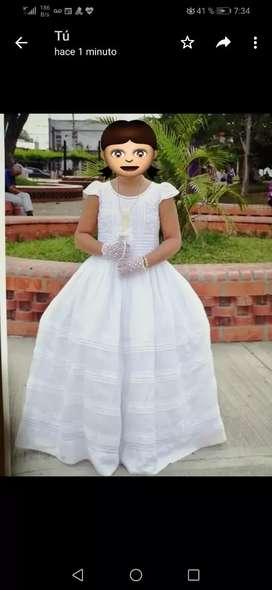 Vestido primera comunion bordado calado