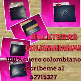 Billeteras de cuero colombiano