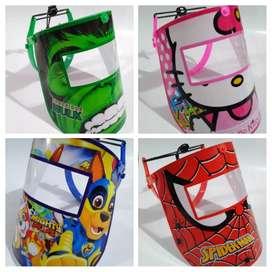 Protectores faciales para niños y adultos