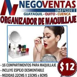 ORGANIZADOR DE MAQUILLAJE EN DESCUENTO EXCLUSIVO DE NEGOVENTAS
