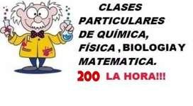 Clases particulares de Química,  Matemática y Biología