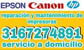 REPAracion y MANTENImiento de impresoras pasto arreglo servicio de impresoras epson canon hp