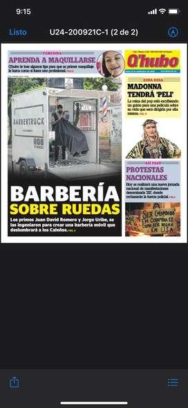 BARBERIA SOBRE RUEDAS (TRAILER O REMOLQUE)