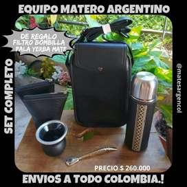 """EQUIPO MATERO ARGENTINO"""" PREMIUM"""" con BOLSO MATERO! SET COMPLETO!"""