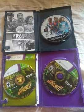 Juegos de Xbox 360 y ps2 originales funcionales